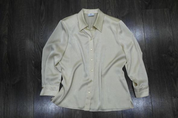 Jasno złota bluzka koszulowa 44