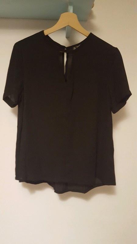 Nowa czarna elegancka bluzka SHEIN M
