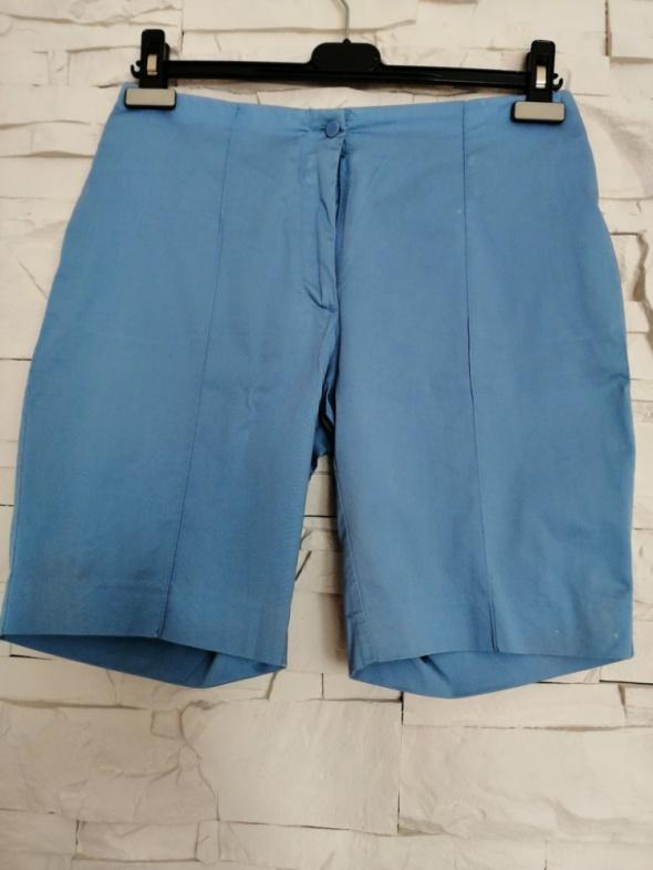 Krótkie eleganckie niebieskie spodenki H&M 36