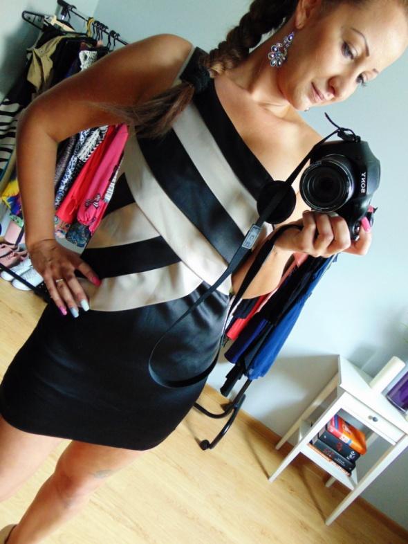 Elegancka czarna sukienka New Look M 38 sexy...