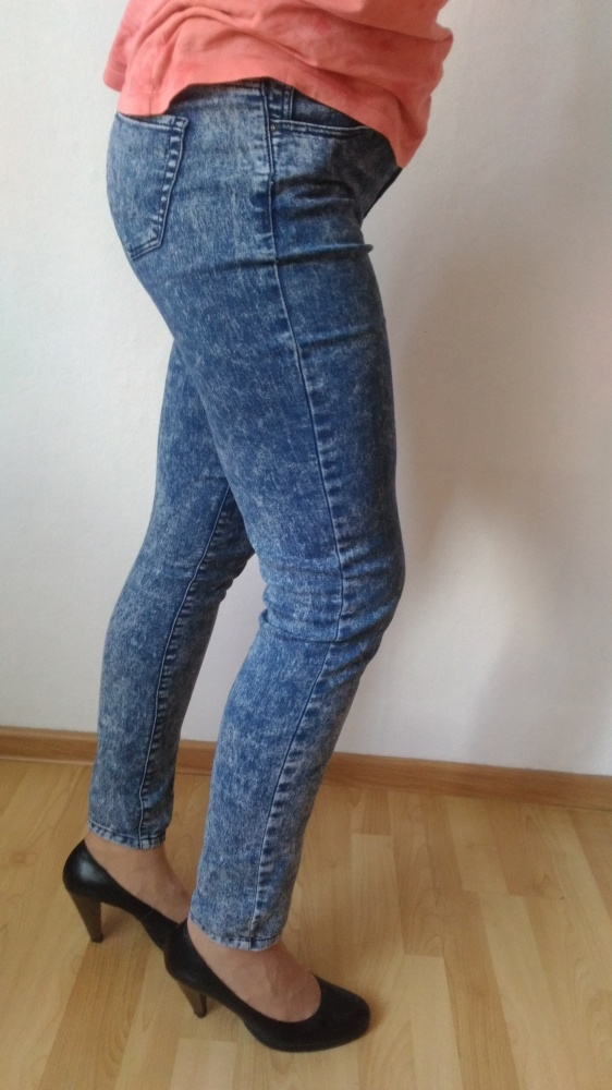 Marmurkowe jeansy 38 Denim Co...