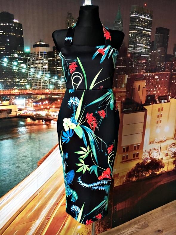 boohoo sukienka ołówkowa kwiaty floral zip hit blog 40
