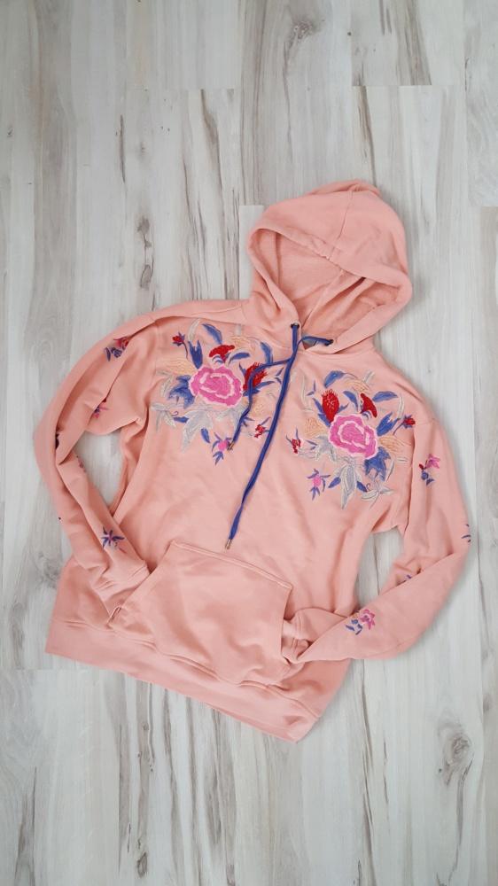 Brzoskwiniowa bluza w kwiaty Asos 36 S...