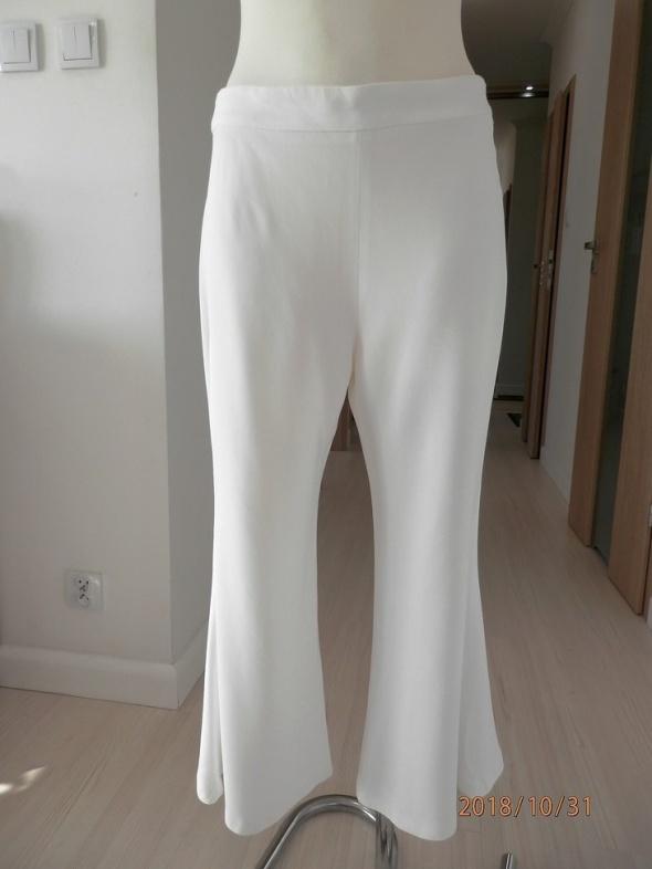 Spodnie Zara Kuloty Culotte Białe Dzwony Wysoki Stan Nowe z Metką 38