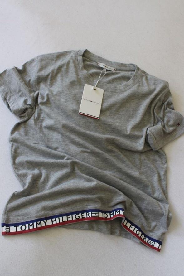 e1bf9d7d2 szara bawełniana koszulka Tommy Hilfiger s w T-shirt - Szafa.pl