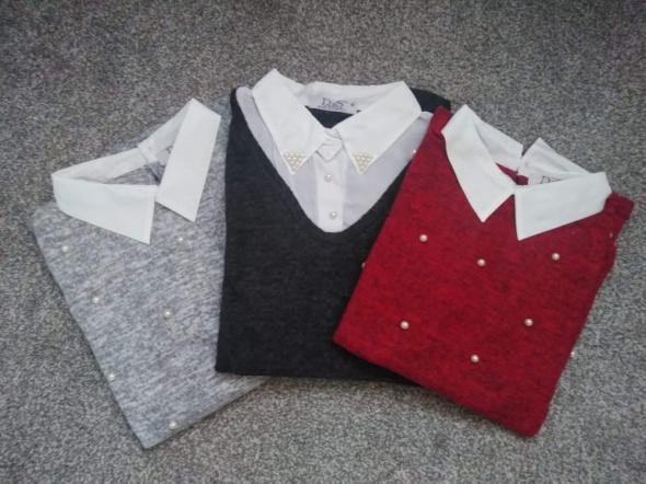 Sweterki z koszulą