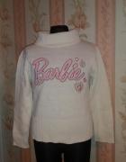 sweter golf BARBIE rozmiar 122 biały...