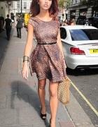 miss selfridge rozkloszowana sukienka panterka