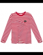 PLNY LALA LONGSLEEVE Petite KISS French Fit Red Stripes...