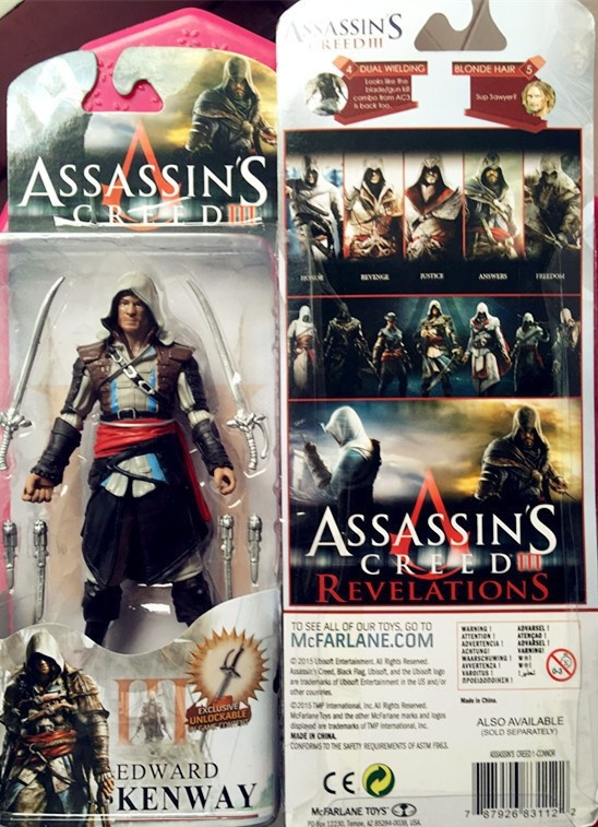 Zabawki FIGURKA EDWARD Kenway Assassins Creed PVC TANIO