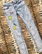 Marmurkowe jeansy...