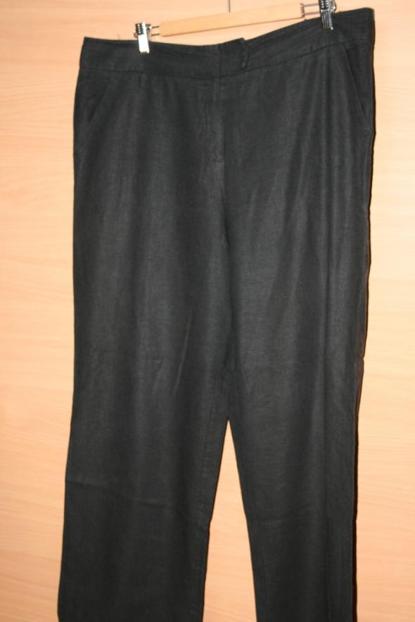 Lniane czarne spodnie