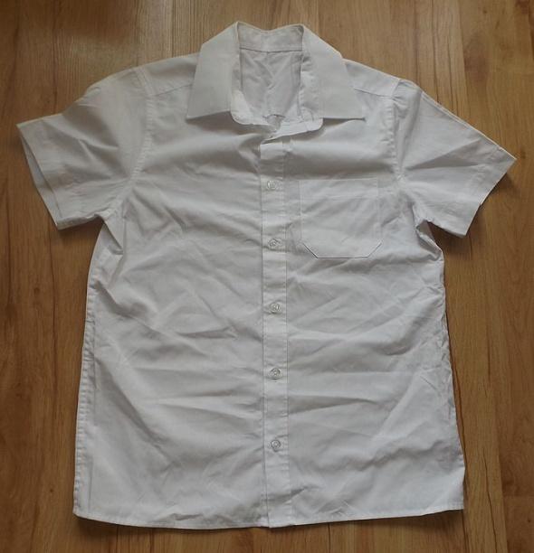Bluzki Biała koszula chłopięca 140 cm FF