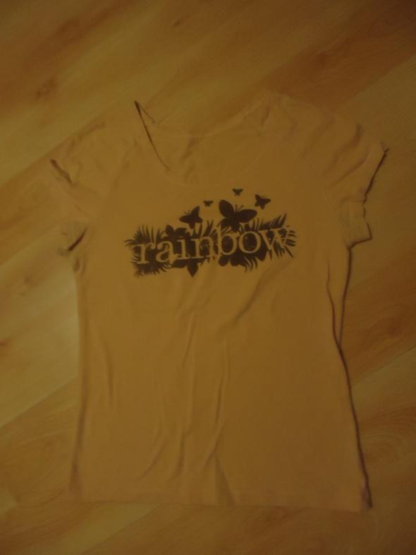 Bawełniana bluzka rainbow t shirt z nadrukiem