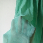 Cienka miętowa spódnica maxi