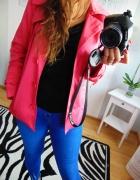 Różowy krótki płaszcz Emreco 38 M...