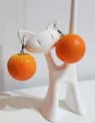 Lekkie kolczyki pomarańcze owoce lato plaża...
