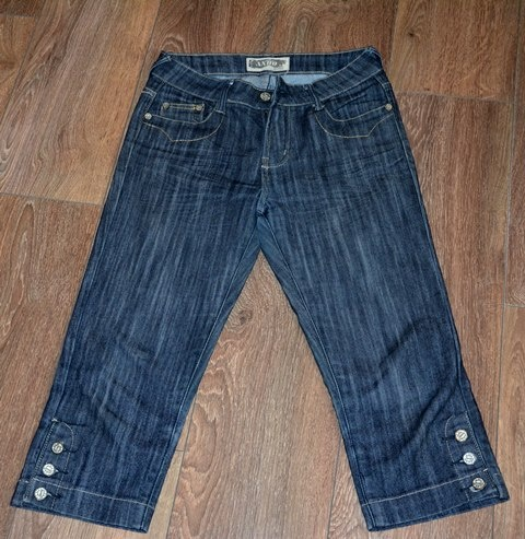 Spodenki rybaczki jeansowe M