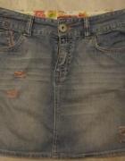 spódnica jeans M cross jeans dziury wysoki stan...