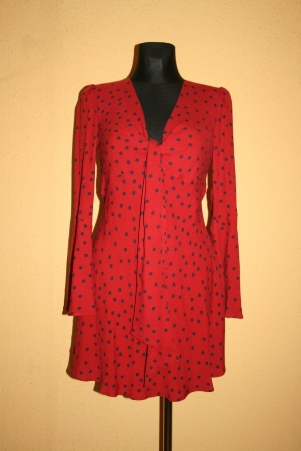okazja sukienka laurella czerwona w grochy 38 M
