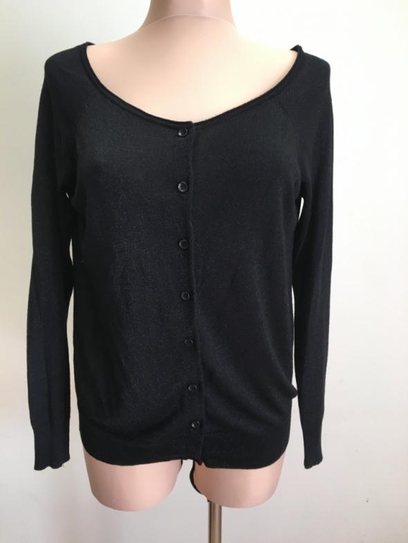 a650a57b6b3083 Czarny sweter z brokatową nitką w Swetry - Szafa.pl