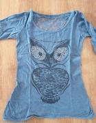 Niebieska bluzeczka z sową...