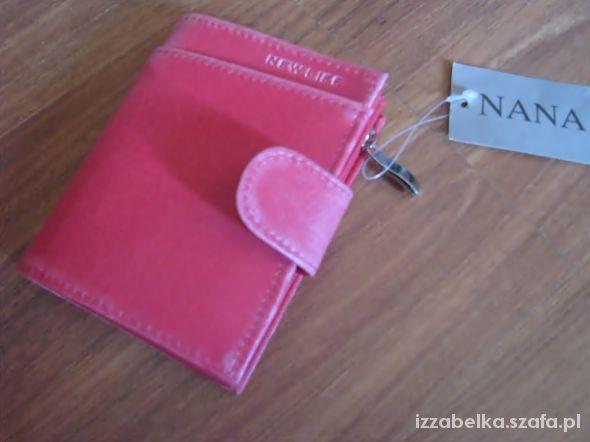 NOWY portfel różowy cieniowany