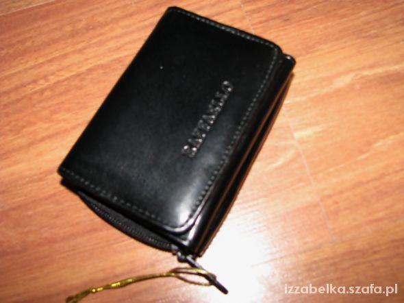NOWY czarny elegancki portfel