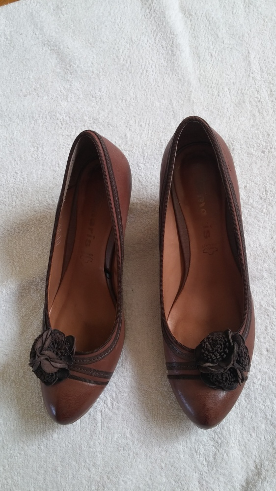 czółenka buty brązowe 38 Tamaris