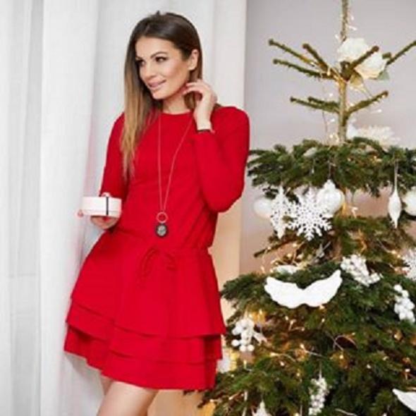 Sukienka idealna na święta sugarfree darcy czerwona rozmiar xs jak zara