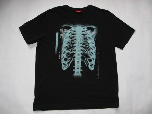 Koszulki i t-shirty PUMA CZARNY T SHIRT ZIELONY NADRUKI XL JAK NOWY