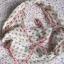 Top Secret beżowa chusta czaszki różowa nitka neon