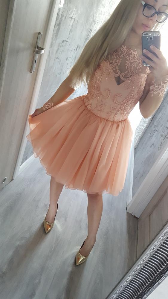 Sukienka brzoskwiniowa Lou Mia 36 S
