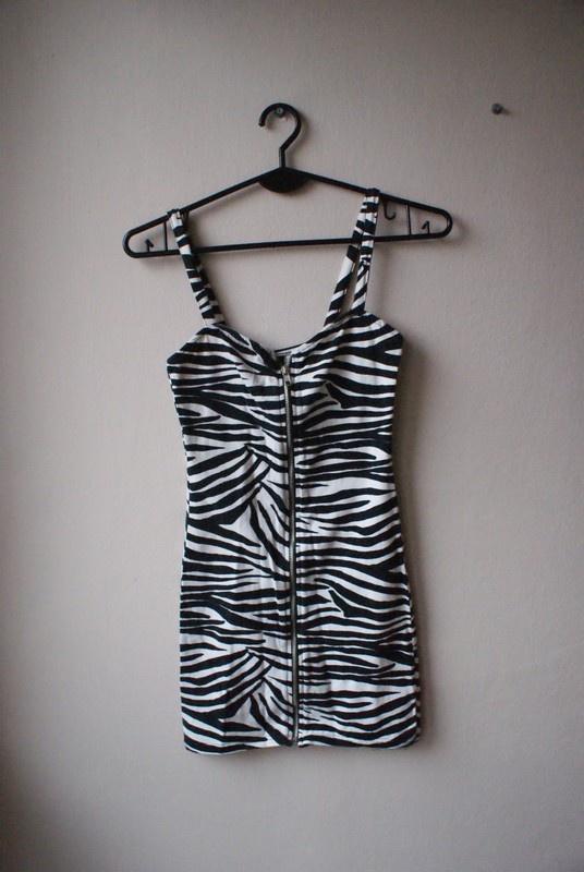 Sukienka zebra XS suwak...