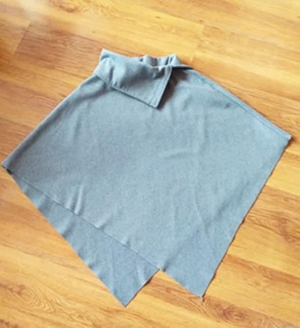 Nowe szare ponczo materiał jak zimowy płaszcz