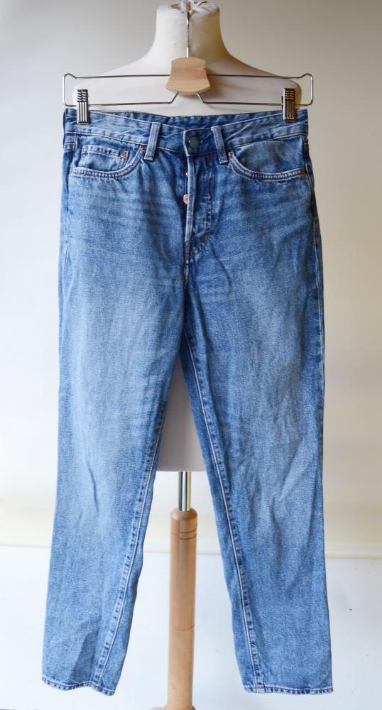 Spodnie Jeans Vintage Fit 26 S 36 Dżinsowe HM Denim w