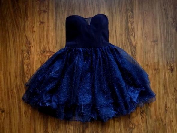 Sukienka granatowa brokatowa