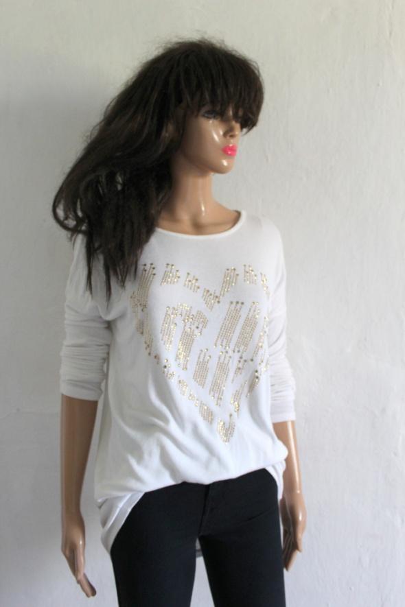 Biały lejący sweterek r około L...