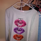 Usta kiss me cienka bluza bluzka 36 38