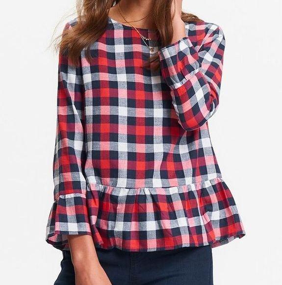 Bluzki bluzka kratka baskinka TOP SECRET falbanka XS S
