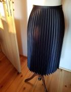 spodnica ZARA plisowana granatowa...