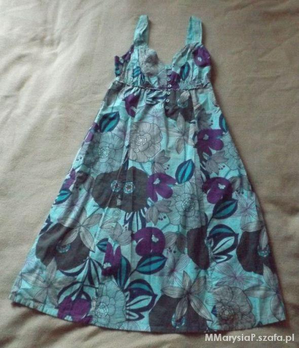 Letnia sukienka w kwiaty S...