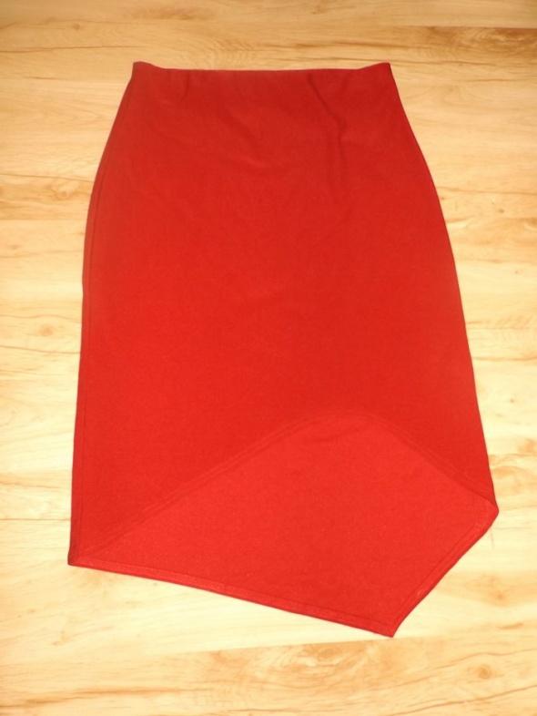 Spódnice Asymetryczna spódnica bordo L
