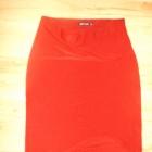 Asymetryczna spódnica bordo L