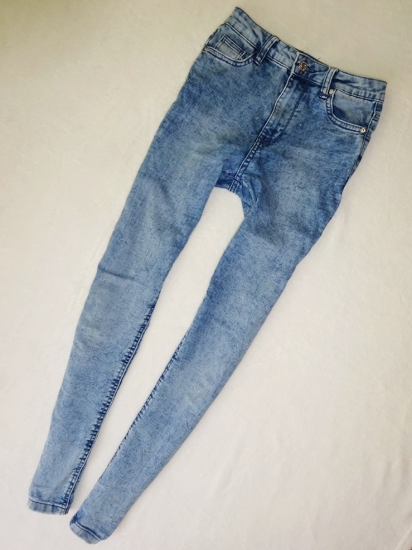 Bershka spodnie rurki marmurki wysoki stan 36 S...
