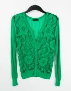 Koronkowy gipiurowy sweter