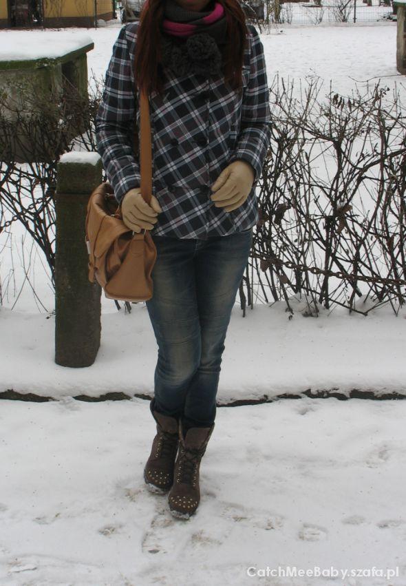 Kurtka zimowa w kratkę Cropp S...
