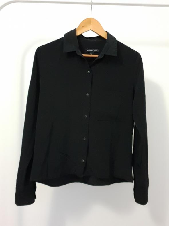 czarna koszula Mango...