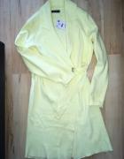 narzutka pastelowa żółta RESERVED S 36 cytrynowa NOWA...