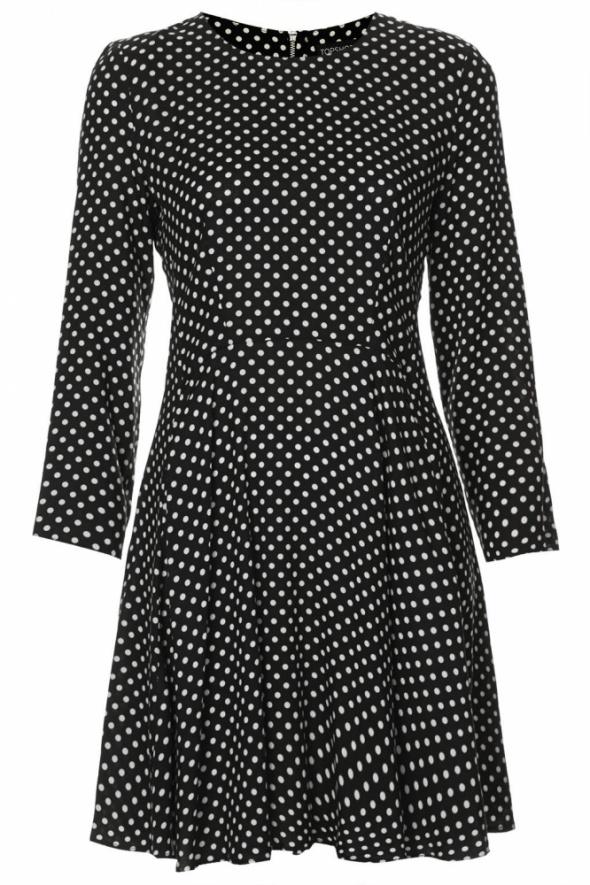 Topshop petite sukienka swing w kropki XS